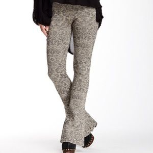 Free People Glitter bell bottom pants